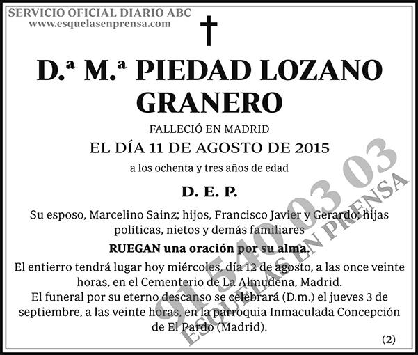 M.ª Piedad Lozano Granero